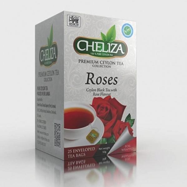 Tè Nero Ceylon al Sapore di Rose 25 Filtri