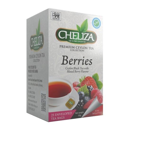 Tè Nero Ceylon con Sapore ai Frutti di Bosco 25 Filtri