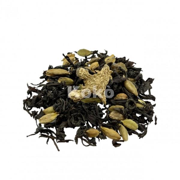 Tè Nero Zenzero Limone e Cardamomo - Sapore Forte,Deciso,Piccantino e Agrumato